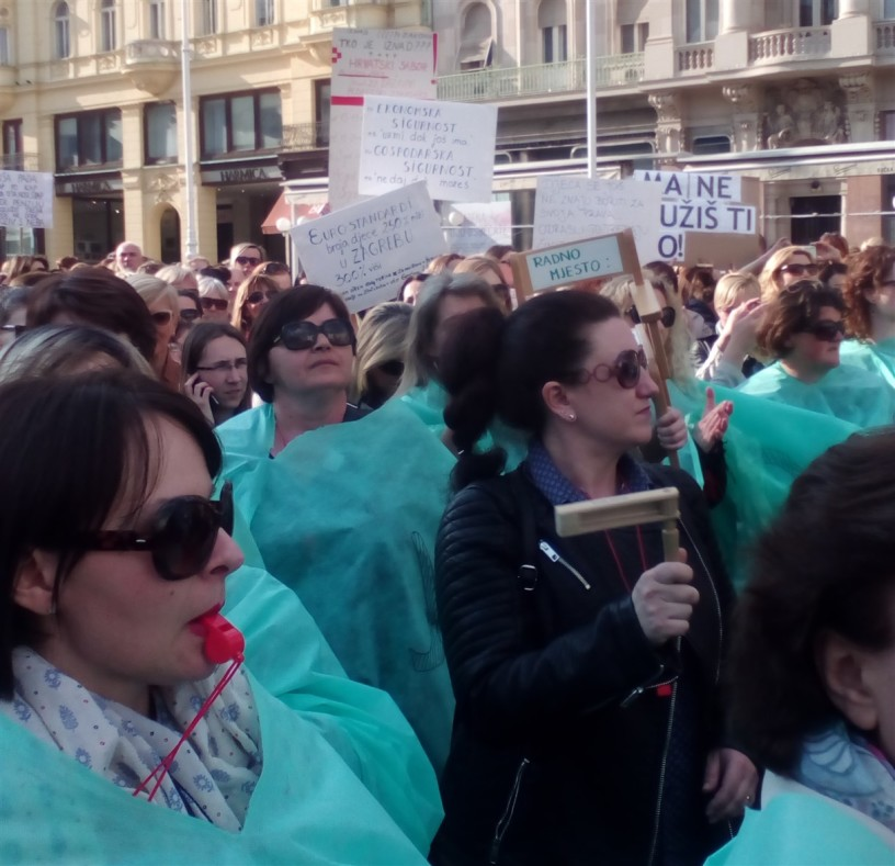 Foto: RP |Nekoliko stotina odgajateljica jučer je diglo svoj glas