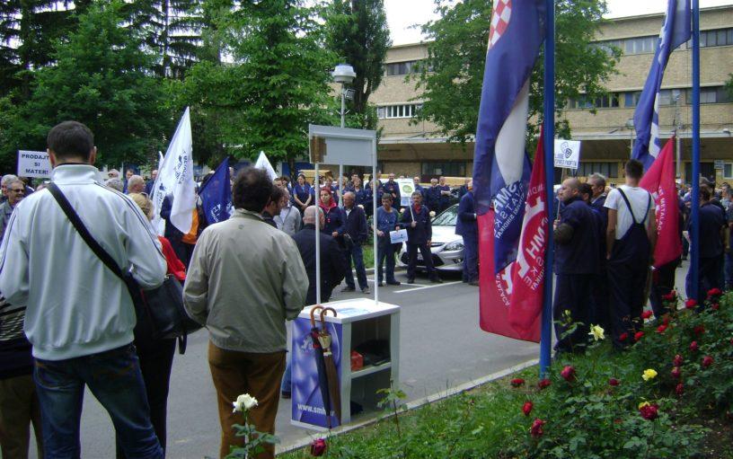 Foto: RP | Radnici su jučer krenuli u borbu koja se mora radikalizirati