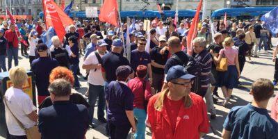 Zbog labavosti i mlakosti sindikalnih lidera, jučerašnji prosvjed nije korak naprijed u radničkoj borbi za Končar