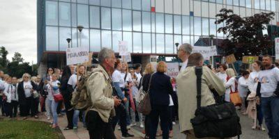 Foto: Sindikat Preporod | Prizor s jučerešnjeg prosvjeda
