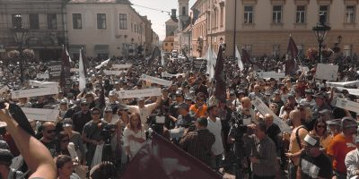 Prosvjed na Markovom trgu