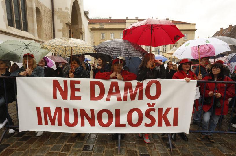 Temeljni radnički zahtjev i borbeni slogan ''Ne damo Imunološki'' ne smije ustuknuti ni milimetar