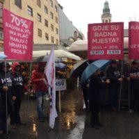 Foto: RP |  Prizor s današnjeg prosvjeda