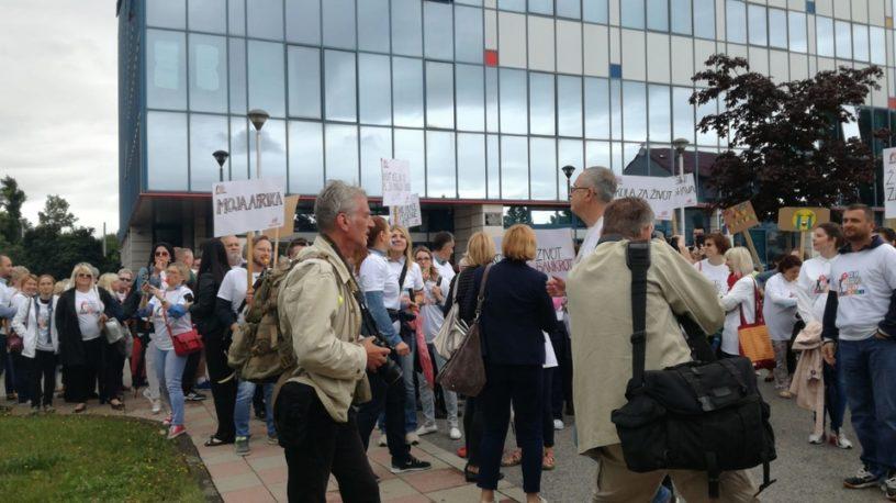 Foto: Sindikat Preporod | Prizor s jučerašnjeg prosvjeda