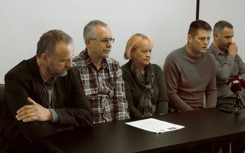 Konferencija za medije sindikata Preporod i Nezavisnog cestarskog sindikata
